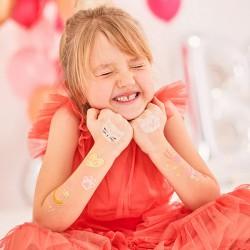 TATUAŻE zmywalne dla dzieci zabawa urodzinowa Kotki 12szt