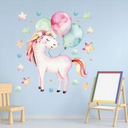 NAKLEJKI na ścianę do pokoju dziecka Unicorn Jednorożec 50x100cm