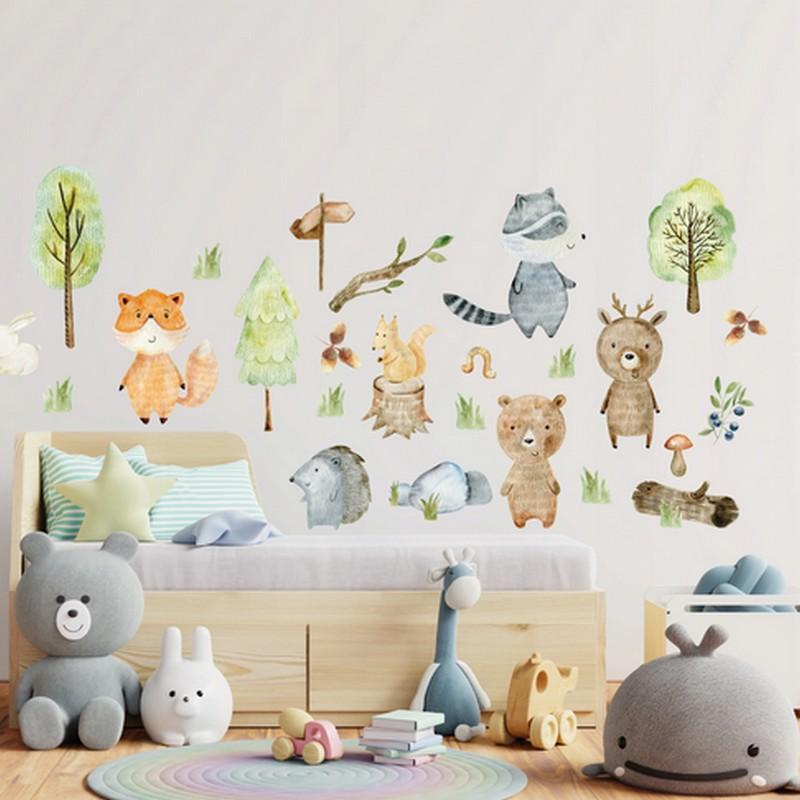 Naklejki na ścianę ze zwierzątkami