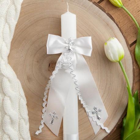 STROIK/OKAPNIK na świecę Srebrny Krzyżyk LUX (14)