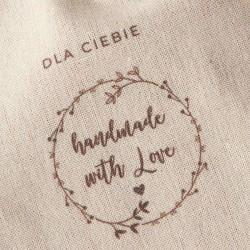 WOREK na prezent lniany Handmade with Love 26x35cm