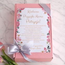 PREZENT na Baby Shower Z IMIENIEM Różowy I MAŁY