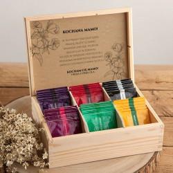 PREZENT na Dzień Mamy Z PODPISEM Herbaciarka 36 herbat