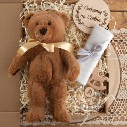 PREZENT na Baby Shower dla dziewczynki Z IMIENIEM Z maskotką MEGA BOX