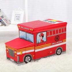 POJEMNIK na zabawki pufa dla dzieci Straż Pożarna