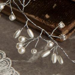 OPASKA komunijna bogato zdobiona z perełkami