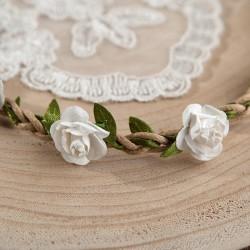 OPASKA komunijna na gumce Białe Kwiatuszki