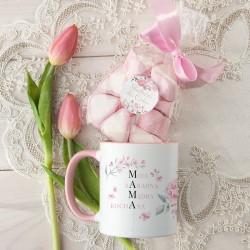 KUBEK prezent na Dzień Mamy+pianki Marshmallow Z PODPISEM