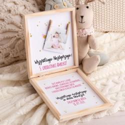 KARTKA urodzinowa w pudełku Z PODPISEM Kotki