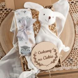 PREZENT na Baby Shower dla dziecka Z IMIENIEM Przytulanka Miś