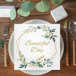 SERWETKI papierowe Gałązka Eukaliptusa Beautiful Day 33x33cm 20szt