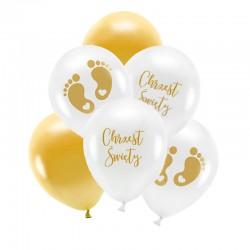 ZESTAW bukiet z balonów na Chrzest ELEGANCKI ZŁOTY
