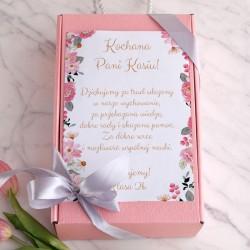 PREZENT dla Nauczyciela Box Z IMIENIEM Różowy I MAŁY