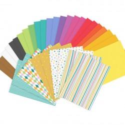 ZESTAW papierów kolorowych A4 Wycinanki 34szt MIX