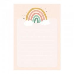 NOTES z wyrywanymi kartkami 8.5 x 12 cm Tęcza 40 kartek