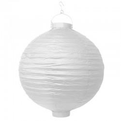 LAMPION papierowy na balkon Z ŻARÓWKĄ 30cm BIAŁY