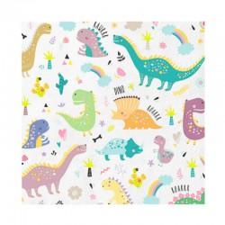 SERWETKI papierowe na Roczek i Urodzinki Dinozaury 16x16cm 10szt