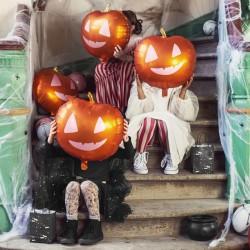 BALON na Halloween foliowy Dynia 40x40cm