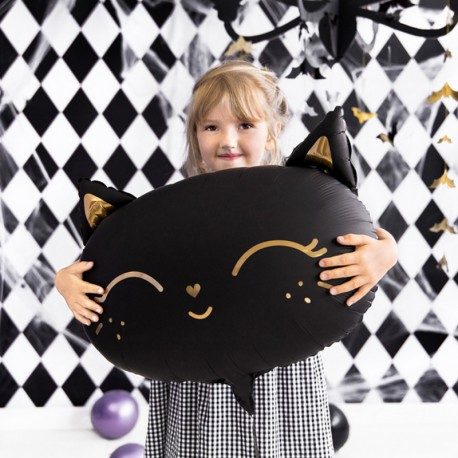 BALON na Halloween Czarny Kot 48x36cm