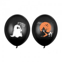 BALONY na Halloween Duszek 6szt