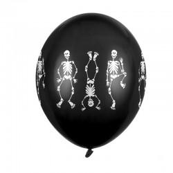 BALONY na Halloween Szkielety 30cm 6szt