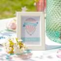 TABLICZKA na stolik na Roczek i Urodziny dziecka Balloons (+ramka)