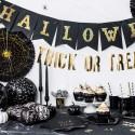 BANER na Halloween CZARNO-ZŁOTY 20x175cm