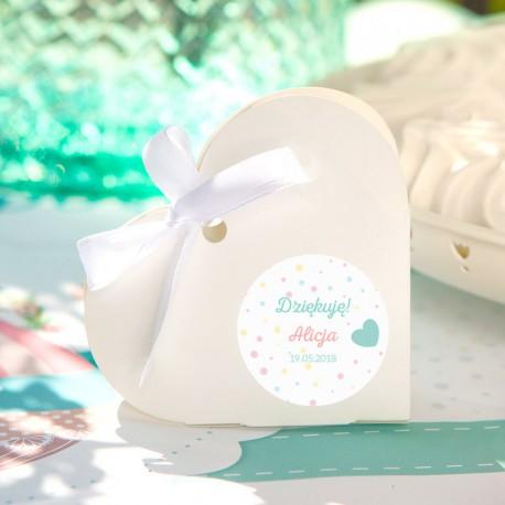 PUDEŁECZKA serca Balloons (+etykiety z imieniem+białe wstążki) 10szt
