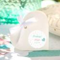PUDEŁECZKA serca na Roczek i Urodziny dziecka Balloons (+etykiety z imieniem+białe wstążki) 10szt