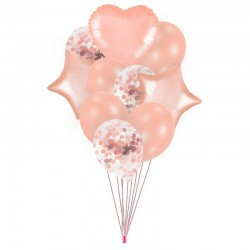 ZESTAW balonów na Roczek, urodziny Rosegold NEW