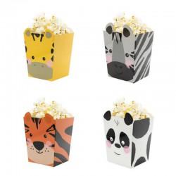 PUDEŁKA na Popcorn Zwierzątka 4szt