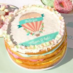 OPŁATEK na tort personalizowany na Roczek i Urodziny dziecka Balloons Ø20cm