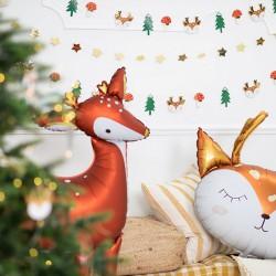 GIRLANDA świąteczna Leśne Zwierzątka 1,7m