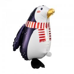 BALON świąteczny foliowy Pingwinek 29x42cm