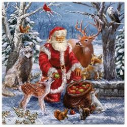 SERWETKI świąteczne Święty Mikołaj 33x33cm 20szt