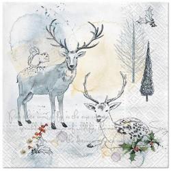 SERWETKI świąteczne Zimowy Nastrój 33x33cm 20szt