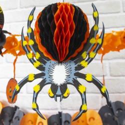 DEKORACJA na Halloween Pająk 25cm EFEKT 3D