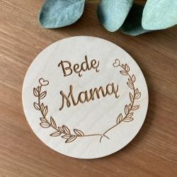 TABLICZKA do zdjęć Będę Mamą drewniana