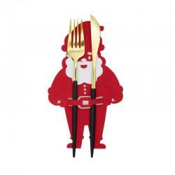 KIESZONKI na sztućce świąteczne filcowe Mikołaj 6szt
