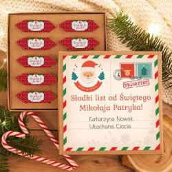 LIST od Św. Mikołaja prezent pudełko z krówkami Z PERSONALIZACJĄ
