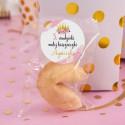 CIASTECZKO z wróżbą na Roczek i Urodziny dziecka Mała Księżniczka (+etykieta)
