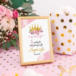 TABLICZKA na stolik w ramce Mała Księżniczka