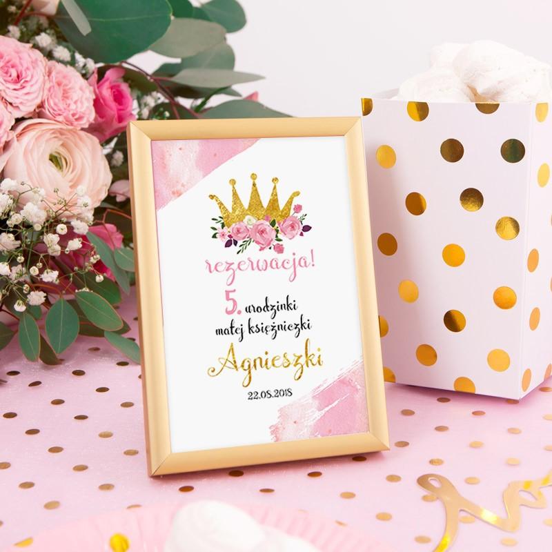 Tabliczka na stolik Mała Księżniczka