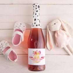 WINO musujące bezalkoholowe dla dzieci 750ml Z PODPISEM Różowy Króliczek