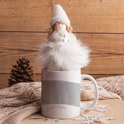 PREZENT świąteczny Kubek z aniołkiem Z IMIENIEM Święta są wtedy