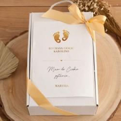 PROŚBA o bycie Chrzestną Z PODPISEM kubek+czekoladki Złote Stópki