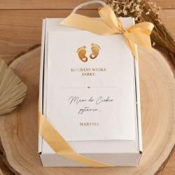 PROŚBA o bycie Chrzestnym Z PODPISEM kubek+czekoladki Złote Stópki