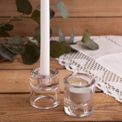 ŚWIECZNIK 2w1 do świec długich i tealightów Chrzest Komunia