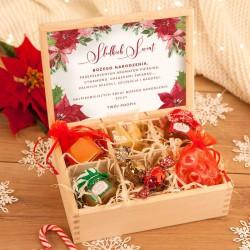 ZESTAW świąteczny w skrzyni Słodkie Święta z Twoim podpisem
