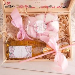 PREZENT dla Babci Z PODPISEM Wino+pianki